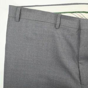Lauren Ralph Lauren Gray Slim Fit Dress Pants